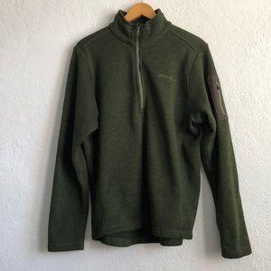 Heavy Eddie Bauer Jacket Sweater 1/4 Zip EUC Sz L